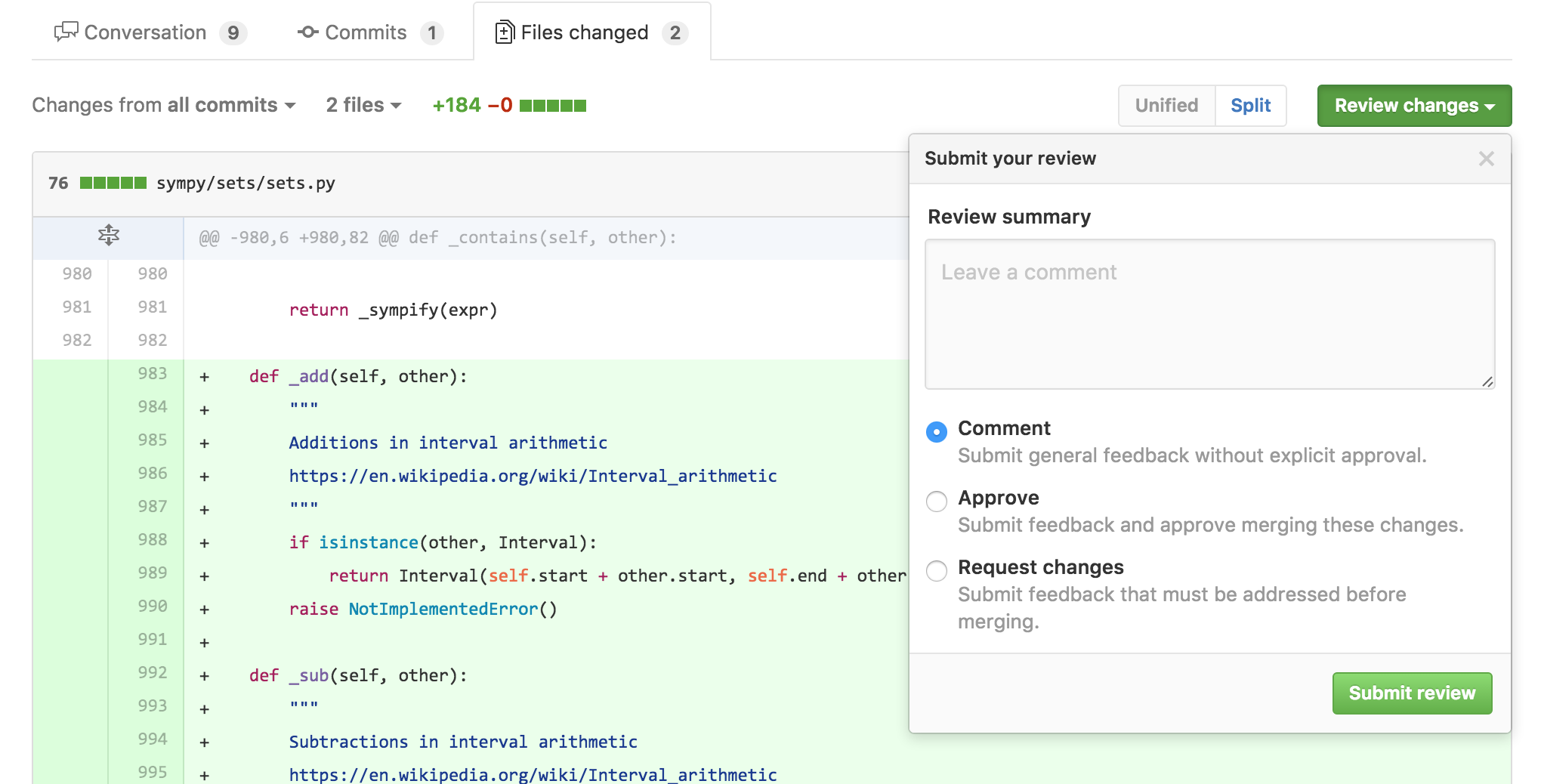 GitHub Reviews Gripes | Aaron Meurer's Blog